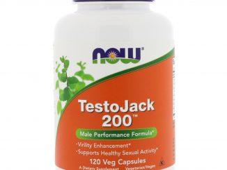 TestoJack 200, 120 Veg Capsules (Now Foods)