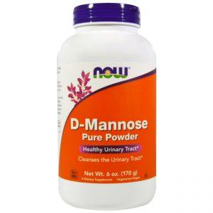 D-Mannose Pure Powder, 6 oz (170 g) (Now Foods)