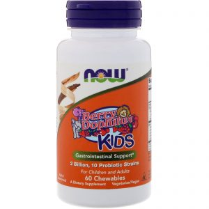 Berry Dophilus, Kids, 2 Billion, 60 Chewables (Now Foods)