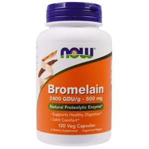 Bromelain, 500 mg, 120 Veg Capsules (Now Foods)