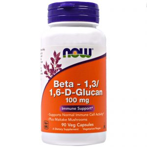 Beta-1,3/1,6-D-Glucan, 100 mg, 90 Veggie Caps (Now Foods)