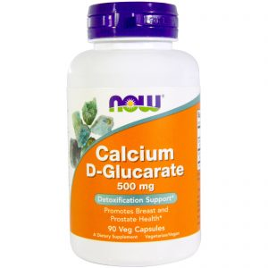 Calcium D-Glucarate, 500 mg, 90 Veggie Caps (Now Foods)
