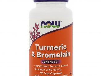 Turmeric & Bromelain, 90 Veg Capsules (Now Foods)