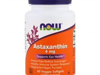 Astaxanthin, 4 mg, 60 Veggie Softgels (Now Foods)