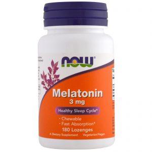 Melatonin, 3 mg, 180 Lozenges (Now Foods)