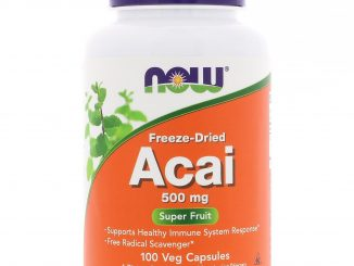 Freeze-Dried Acai, 500 mg, 100 Veg Capsules (Now Foods)