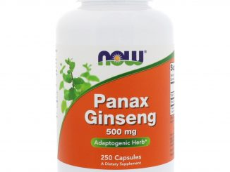Panax  Ginseng, 500 mg, 250 Capsules (Now Foods)