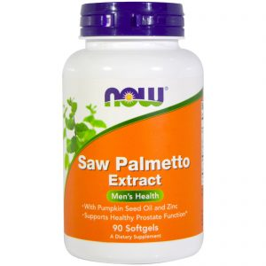 Saw Palmetto Extract, With Pumpkin Seed Oil and Zinc, 160 mg,  90 Softgels (Now Foods)