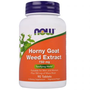 Horny Goat Weed Extract, 750 mg, 90 Tablets (Now Foods)