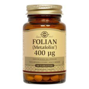 Solgar Folian (Metafolin), 400 µg, tabletki, 50 szt. / (Solgar Vitamin & Herb)