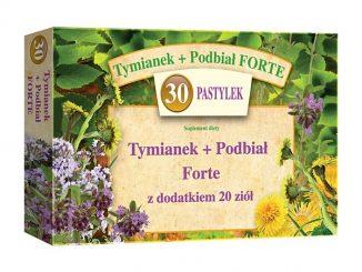 Tymianek+Podbiał Forte (Tymianek i Podbiał + 20 ziół), pastylki do ssania, 30 szt. / (Domaco)