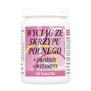 Wyciąg ze skrzypu polnego+drożdże+witaminy, tabletki, 100 szt. / (Vitamex Ab)