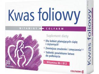 Kwas foliowy, 0,40 mg, tabletki, 30 szt. / (Colfarm)
