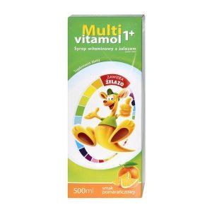 Multivitamol 1+, syrop witaminowy z żelazem, 500 ml / (Natur Produkt Pharma)
