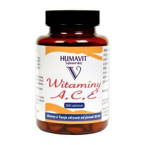 Humavit V Witaminy A, C, E, tabletki, 200 szt. / (Varia)
