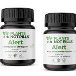 Alert – THC-Free CBD Energy Capsules - 30 capsules/300 mg total CBD (Plants Not Pills)