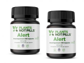 Alert – THC-Free CBD Energy Capsules - 30 capsules/300 mg total CBD (Plants Not Pills)